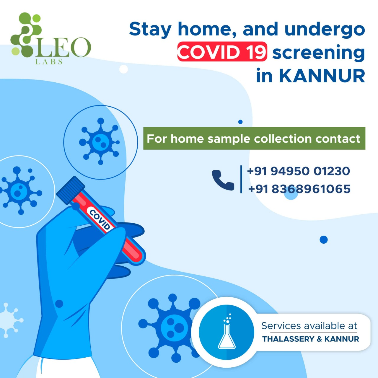 Health check-up lab in Kannur,Covid19 screening in Kannur,diabetic lab in Kannur
